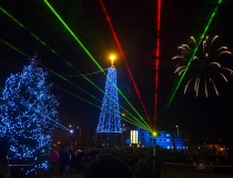 Morecambe Sparkles at Craig Charles switches on Morecambe BID Chistmas lights