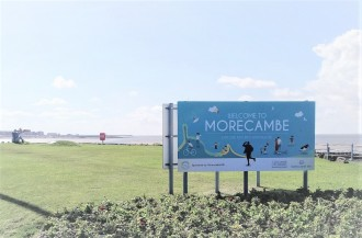 "Morecambe BID sponsors ""Welcome to Morecambe"" signs"